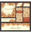 Set of banners headers with autumn leaves vector image