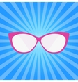 Hipster Summer Sunglasses Fashion Glasses Icon vector image