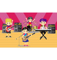 musicians and musical instruments rock band music vector image