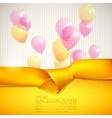 abstract background with yellow ribbon and vector image vector image