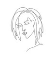 abstract trendy one line drawing woman vector image vector image