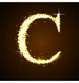 Alphabets C of gold glittering stars vector image vector image