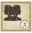 astrological sign - gemini vector image