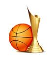 basketball game award basketball ball vector image vector image