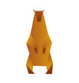 bear origami low polygon polar or brown bear vector image vector image