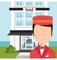 bellboy service hotel isolated icon vector image