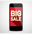 big sale business app on mobile phone vector image vector image