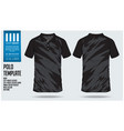 black polo t shirt sport template design vector image vector image