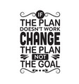 business quote if plan does not work vector image vector image