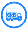 cash lorry rounded grainy icon vector image vector image