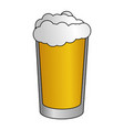 cold beer foam vector image