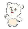 comic cartoon happy little teddy polar bear vector image