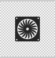 computer cooler icon pc hardware fan vector image