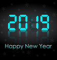 congratulations on the new year 2019 on the vector image vector image