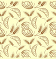 croissant and wheat ears seamless pattern vector image vector image