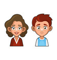 cute girl and boy avatar young woman and man vector image vector image