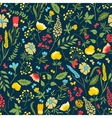 Cute seamless floral pattern with flowers and herb vector image vector image