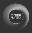 cyber monday sale background banner template vector image vector image