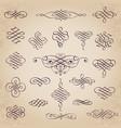 decorative calligraphic design elements vector image vector image