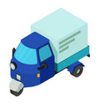 delivery car icon isometric style vector image vector image