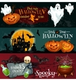 Design for Halloween signboards and posters vector image vector image