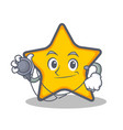doctor star character cartoon style vector image vector image