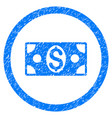 dollar banknote rounded grainy icon vector image vector image