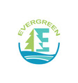eco logo evergreen logo logo template vector image