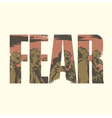 Fear sign vector image vector image