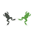 frog jumping vector image vector image