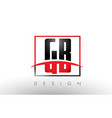 gb g b logo letters with red and black colors and vector image vector image