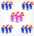 group discussion vector image vector image