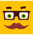 hipster avatar with geek glasses vector image
