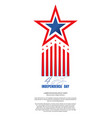 independence day design fourth of july vector image vector image