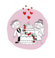 just married couple wedding invitation card vector image vector image