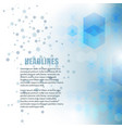 light blue color polygonal shape background vector image vector image