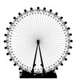 london wheel silhouette vector image vector image