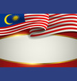 malaysia insignia with decorative golden frame vector image
