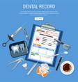 medical dental record concept vector image vector image