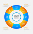 new icons set collection of lorry birthday vector image vector image