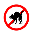 No animals sign do not allowed on white vector image vector image