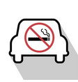 no smoking sign in the car vector image vector image