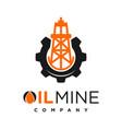 oil mine logo design your company vector image