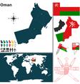 Oman map world