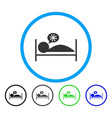 patient bed rounded icon vector image vector image