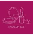 powder and lipstick vector image