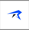 r sports logo designsinitials r logo vector image
