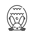 rabbit toy line icon concept sign outline vector image vector image