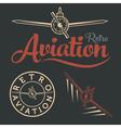 retro aviation label vector image vector image