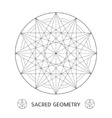 sacred geometry symbol Stock vector image vector image
